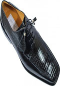 Black Genuine Lizard Shoes