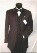 SKU# BMZ247 Highest Quality Guarantee On the Planent! 3 Button Tuxedo Suit Vested Super 150's Wool