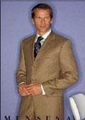 SKU# NY_A63 Men's Light Gold~Bronz~khaki 3 button Cool Light Weight Jacket+Pants