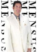 Men's Ivory Off White 3 Buttons Mens Dress Fashion Suits $199