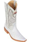 Altos White Ostrich Cowboy