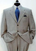 Expensive full canvas quality 3-Button Super 150's Wool & Marino Wool Solid Light Gray premier quality italian fabric Suit $295
