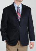 SKU#2BV-J40912C Mens Navy Wool & Cashmere Blend Sportcoat $139
