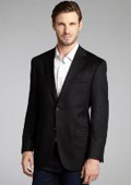 SKU#2BV-J40912C Black Wool & Cashmere Blend 2 Button Blazer $175
