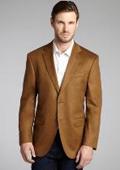 SKU#2BV-J40912C Camel ~ Khaki Wool & Cashmere Blend 2 Button Blazer $175