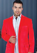 SKU#YT6367 Red Velvet Blazer Jackets for Men $159
