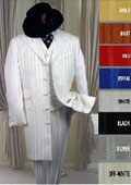 Shiny Ton On Ton Shadow Pinstripe Long Zoot Suit in Many Colors $165