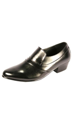 Black and white dress shoes