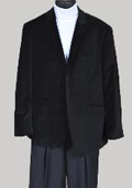 Men's Black Velvet Blazer