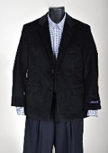 SKU#EU68111 Mens Corduroy Sport Coat- Black $99