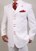 Fashion Mens White Suit