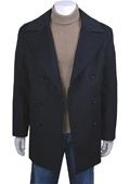 Black Double-Breasted Peacoat $139