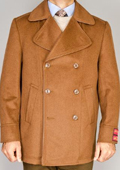 Wool/Cashmere Blend Double-Breasted Coat