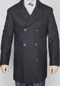 Men's Black Pea Coat