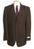 New Choclate Brown Single Breasted Discount Dress 2or3 Button Cheap Suit $79