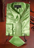 Lime Satin Dress Shirt