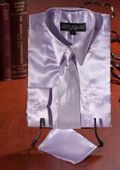 Boys Lavender Satin Dress Shirt Combo $35