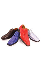 SKU#TY2924 Satin Bike Toe Lace Shoes Availble in Royal Blue & Red $99