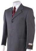 SKU GPC383 Charcoal Gray Pinstripe Super 100s Wool 3 Buttons 99