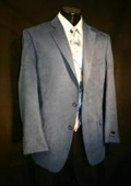 3-button Grey Wool Suit