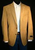 SKU#YUY3465 Camel ~ Khaki Big Size Microfiber Sportcoat $139