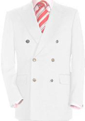 Sku#Whe478 Mens High Quality Snow White Double Breasted Blazer Dinner Jacket $139