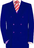 SKU#RYB138 High Quality Royal Blue Double Breasted Blazer With Peak Lapels $139