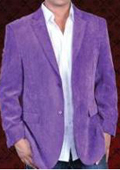 SKU#PLE231 Mens 2 Button Sport Coat Notch Lapel Side Vents Purple $129
