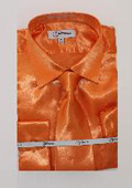 Shiny Luxurious Shirt Orange