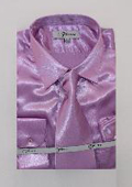 Mens Shiny Luxurious Shirt Lavender $59