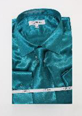 Shiny Luxurious Shirt Teal