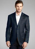 SKU#2BV-J40912C Dark Gray Wool & Cashmere Blend 2 Button Blazer $175