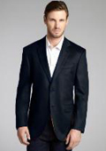 SKU#2BV-J40912C Charcoal Wool & Cashmere Blend 2 Button Blazer $175