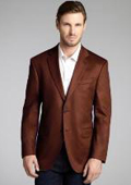 SKU#2BV-J40912C Dark Brown Wool & Cashmere Blend 2 Button Blazer $175