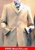 SKU# KDP836 Lightest Tan ~ Beige 4 Buttons Super 100's Wool Suit