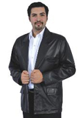 SKU#LMS723 Black Genuine Lamb Skin Blazer Jacket $249