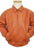 Cognac All Over Genuine Ostrich Jacket $2300