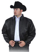 Black All Over Genuine Ostrich Jacket $2300
