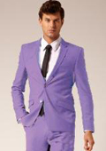 Mens 2 Button Style Wool & Cotton Suit Flat Front Pants Lavender $175
