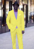 Classic Ultra Smooth 2 Button Suit Yellow $139