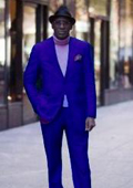 Classic Ultra Smooth 2 Button Suit Royal Blue $139