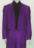 Tail Peak Lapel Purple