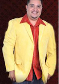 SKU#YLW1902 Mens Cotton/Rayon 2 Button Sport Coat Notch Lapel Side Vents Yellow $89