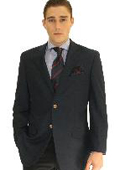 SKU#NVY7062 Men's 2 Button Navy Sport Jacket Blazer $89