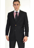 SKU#LAC6281 Men's 2 Button Black Sport Jacket Blazer $89