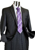 Charcoal Pinstripe 100% Wool