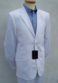 Mens White Linen Designer Wedding Dress Suit
