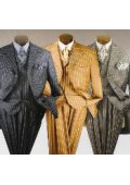 SKU LSH826 Mens Bold Wide Nice Pinstripe Fashion Dress Long Zoot suit 139