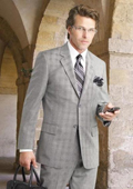 2 Btn Flat Front Pants Glen Plaid, Side Vents, Super 150's Pick Stitch Suit $17