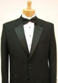 SKU# GB78 $775 Package Deal High Quality Umo 2-Button Super 120's Wool Tuxedo + Shirt + Bow Tie